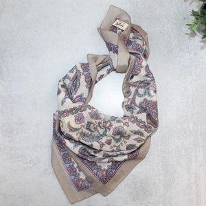 VTG Tres-Elle Handkerchief Scarf Made In Italy